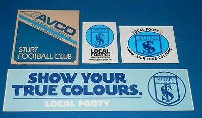 Vintage 1970's/80's Sturt Football Club Coaster & Stickers