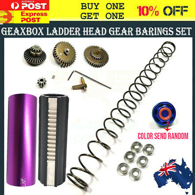 Upgrade Gearbox Ladder Head Cylinder Metal Gears Spring For Jinming 8th M4A1 Mod