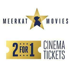 """""""MEERKAT MOVIES"""" 2-for-1 CINEMA FILM TICKET CODE- for Tue 26th or Wed 27th MARCH"""