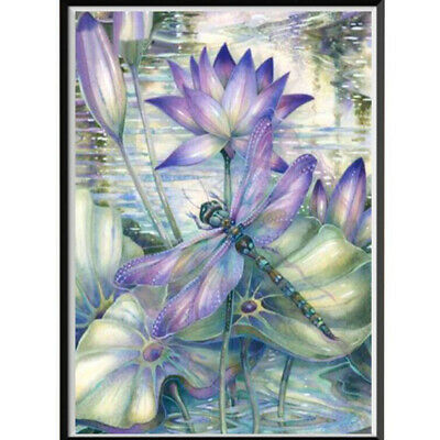 Dragonfly Diamond Painting Embroidery Cross Craft Stitch Kit Home Decoration BS