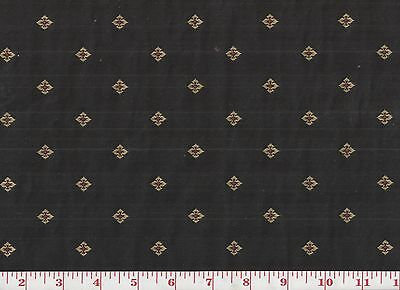 Overstock Pricing! Roth & Tompkins Black Ditsy Upholstery Fabric Windsor ~ Kohl