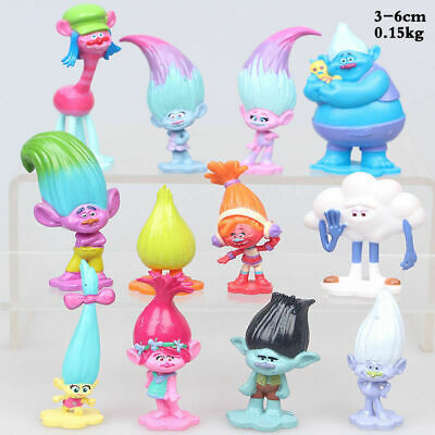 12Pcs/set Movie Trolls Poppy Branch Action Figures Cake Toppers Doll Toy Gifts