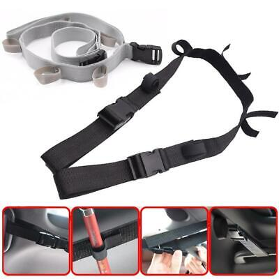 Fishing Vehicle Rod Carrier Holder Belt Strap With Tie Wrap Fishing Tackle Tool