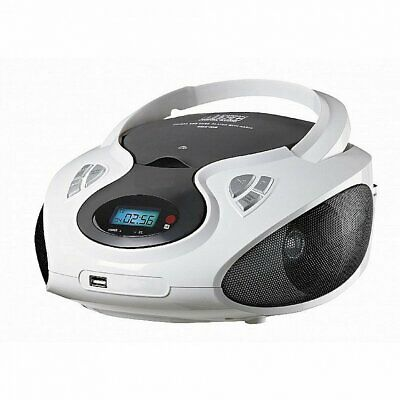 Stereo CD-Radio | Tragbares CD-Player | MP3-Player | Kinder Radio | Weiß