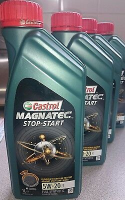 4X1 Litre Castrol Magnatec Stop-Start 5W-20 E Fully Synthetic Engine Oil B New