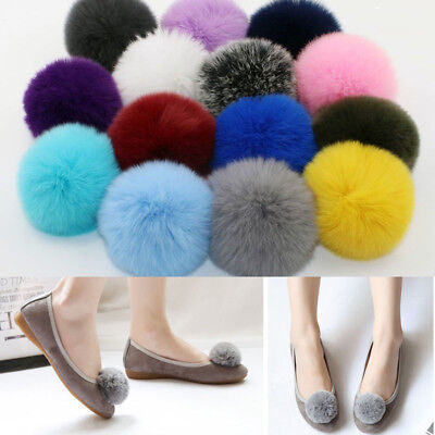 5Pcs DIY Cute Faux Rabbit Fur Pom Pom Ball Pompoms Knitting Hat Accessories