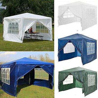 Heavy Duty Stronger Waterproof Fully 3x3m Gazebo Garden Canopy Tent With 4 Sides