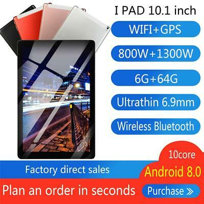 "10.1"" Tablet Android 8.0 6GB+ 64G Ten-Core WIFI HD Camera Tablet PC Computer"