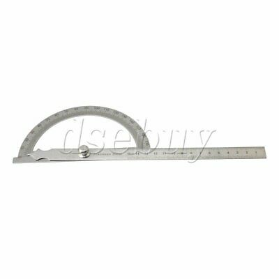 180 Degree Simple Rotary Protractor with 15cm Ruler Angle Determine Measure