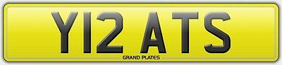 Number plate Y12 ATS registration Y RATS WHY RAT UK REG NO FEES RATTY ASSIGNED4U