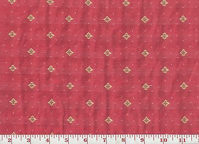 Overstock Pricing! Roth & Tompkins Pink Ditsy Upholstery Fabric Windsor ~ Peony