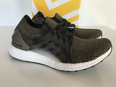a0f916fd8 NEW Adidas ULTRABOOST X Womens Trace Olive Running Shoes SIZE US 6.5 38  CG2976