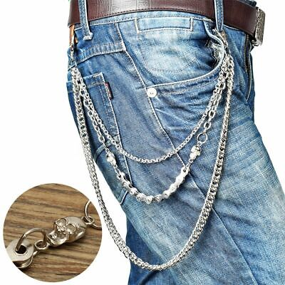 Men Bicycle Trouser Pant Chain Wallet Chains Biker Trucker Punk Hiphop Jean UK