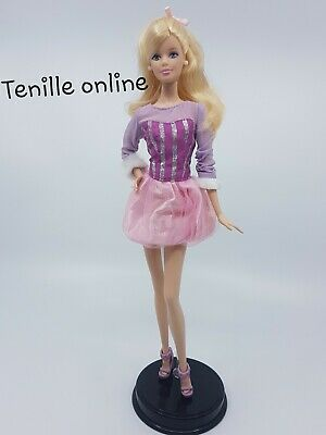 New Barbie doll clothes fashion outfit dress good quality Jeans shorts purple