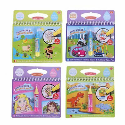 Portable Magic Water Coloring Drawing Book with Pen Kids Children Painting Toy