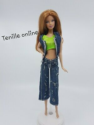 New Barbie doll clothes fashion outfit dress good quality polka dot pants