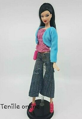 New Barbie clothes complete outfit jeans jacket fashion boots dress handbag