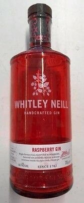 Empty Whitley Neill Raspberry Gin Red Glass Bottle - Upcycle Craft / Display ##