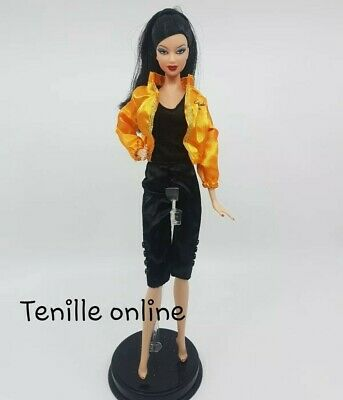 New Barbie doll clothes fashion outfit dress jumpsuit jacket pretty  orange