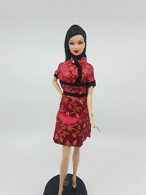 New Barbie doll clothes fashion outfit dress good quality pretty red costume