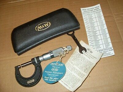 Moore & Wright 965M Metric 0 - 25mm Micrometer - Made In England