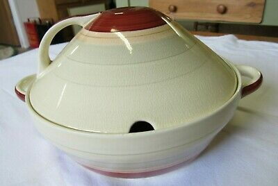 SUSIE COOPER WEDDING BAND PATTERN, SERVING TUREEN WITH LID 21cms DIAMETER.