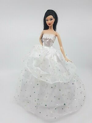 New Barbie doll clothes outfit princess wedding gown dress white