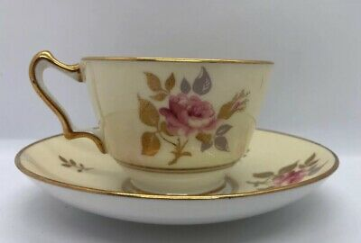 Crown Staffordshire Fine Bone China Tea Cup & Saucer Made in England A15967