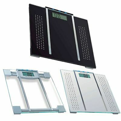 Digital LCD Bathroom Glass Body Fat Calorie Electronic Weighing Scales 150 KG