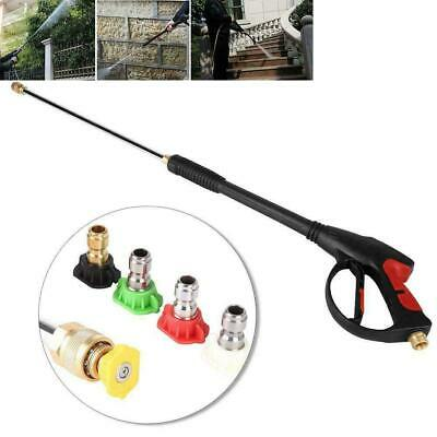 400PSI High Pressure Power Washer Water Spray Gun 5 Nozzle Wand Attachment USA