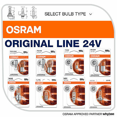 Osram Original Line 24v Standard Replacement Bulbs Commercial Vehicle Truck Van