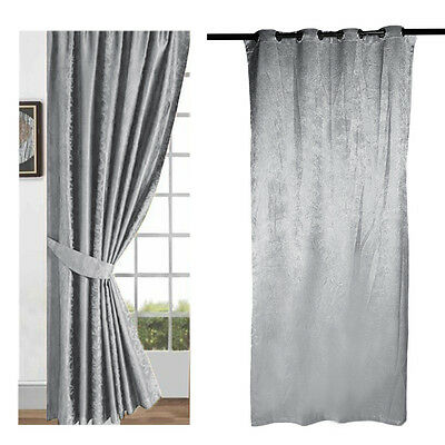 "grey Curtains 52*84"" 100% polyester fiber with Tie Backs - Eyelet or Tape Top"