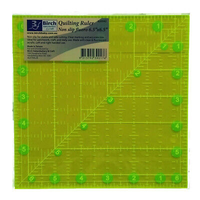 "Quilting Patchwork Sewing Template Square 6.5"" x 6.5"" Birch New"