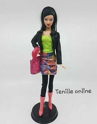 New Barbie clothes complete outfit pink purse    jacket fashion boots bright