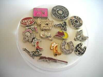 Floating Charms,Country, Western rifle,boots,hats Free shipping on 4 or more