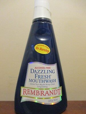 REMBRANDT dazzling free Mouthwash Discontinued !!! 32 oz
