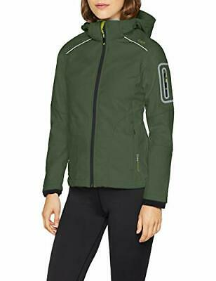 CMP Softshell Chaqueta, Mujer, Verde (Kaky/Apple), XS (Talla Fabricante: 42)
