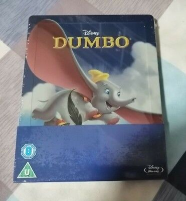 Dumbo Disney UK Blu-Ray Steelbook Brand New and Sealed Mint Condition
