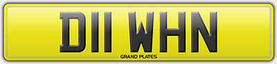 D11 Whn Number Plate Great Dawn Reg Assigned For You No Fees Dawns Rare Name