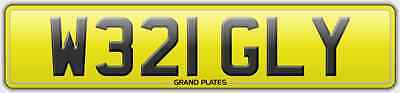 Number plate W321 GLY registration WRIGLEY REG NO FEES WRIGGLY ASSIGNED 4U FREE