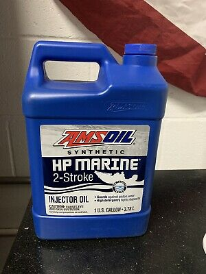AMSOIL HP MARINE Synthetic 2-Stroke Oil lot of 2 Quarts Evinrude