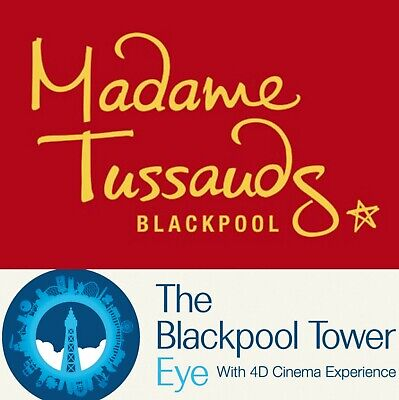 4 X The Sun Blackpool Tower Eye & Madame Tussauds tickets for 25 May 2019
