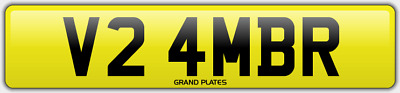 Amber Ambers NUMBER PLATE AMB NO ADDED FEES V24 MBR CAR REGISTRATION AMB AMBERS