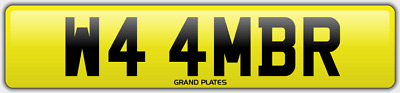 Amber Ambers NUMBER PLATE AMB NO ADDED FEES W44 MBR CAR REGISTRATION AMB AMBERS
