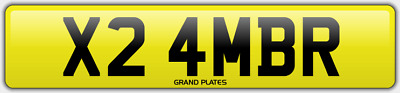 Amber Ambers NUMBER PLATE AMB NO ADDED FEES X24 MBR CAR REGISTRATION AMB AMBERS