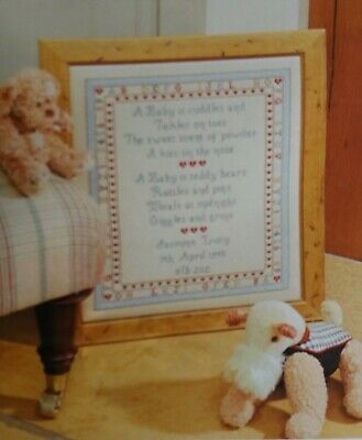 Baby's Are - Cross Stitch Kit - Historical Sampler Company New Baby Birth