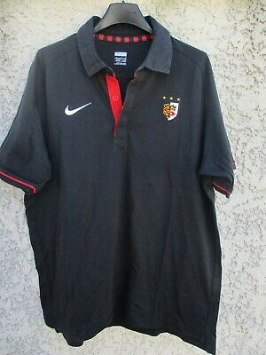 Polo rugby STADE TOULOUSAIN Toulouse NIKE shirt manches courtes noir L