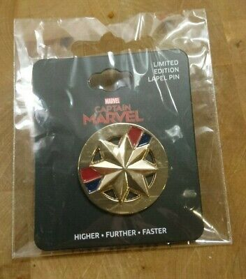Captain Marvel Limited Edition Lapel Pin - Brand new in plastic