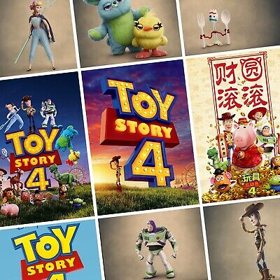 TOY STORY 4 Movie PHOTO Print POSTER Film Art Woody Buzz Lightyear Forky Bo Peep