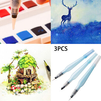 3pcs Refillable Pilot Water Brush Ink Pen for Painting Watercolor Drawing HOT